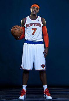 Carmelo Anthony wearing Jordan Melo M8 Advance