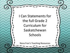 This is a word document that contains all the I Can Statements for the full Grade 2 curriculum as authorized for Saskatchewan schools.These are not posters.Included are the I Can Statements for:Arts EducationEnglish Language ArtsMathematicsScienceHealth Social StudiesPhysical EducationOther Grade 2 resources available in my store in which you may be interested:I Can Statements for Grade 2 ELAI Can Statement Posters for Grade 2 MathTreaty Education I Can Statement Posters Grade 2Follow my…