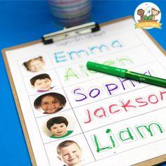 Free Daily Sign In Sheet for Preschool - Pre-K Pages Writing Center Preschool, Creative Curriculum Preschool, Preschool Names, Preschool Centers, Preschool Literacy, Free Preschool, In Kindergarten, Preschool Sign In Ideas, Preschool Plans