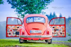 My first car was an old red VW bug. Wish I had thought of this back then!