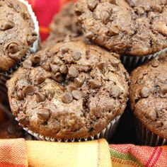 Dark Chocolate Banana Muffins. I find it funny that I pinned this one minute after pinning a diet pin. Ironic!