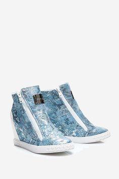 Sneakersy Animal niebieskie