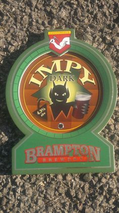 Beer pump badge clip NEW - BRAMPTON brewery IMPY DARK pumpclip UNUSED cask ale