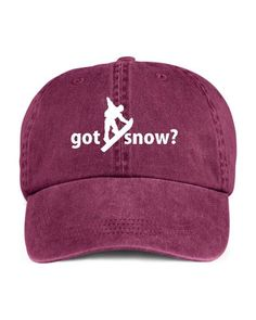 df8295b7aae Got Snow Snowboarding Snowboard Winter Outdoor Sport Baseball Style Cap Hat  Pigment Dyed by TeeDesignsbyVR on Etsy