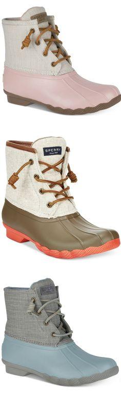 Sperry Women's Saltwater Duck Booties #boots #affiliate