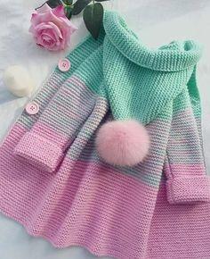 Crochet Patterns For Kids Sweaters Baby Cardigan 29 Ideas Knitting Terms, Knitting For Kids, Crochet For Kids, Baby Knitting Patterns, Baby Patterns, Free Knitting, Knitting Projects, Crochet Baby, Knit Crochet