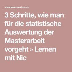 3 Schritte, wie man für die statistische Auswertung der Masterarbeit vorgeht » Lernen mit Nic