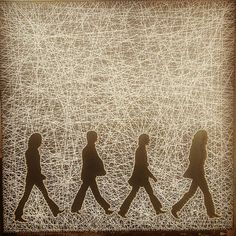 Check out this item in my Etsy shop https://www.etsy.com/listing/534346755/the-beatles-walking-string-art