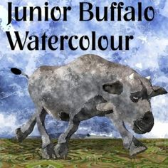 Watercolour Safari Buffalo Junior Toon - This represents a set of graphics that can be purchased individually or as a set or digikit. They can be used in your personal and commercial artwork and designs. If you use them commercially and share that with us we will reward you and promote your products and store.