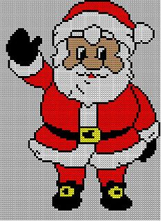 Christmas Santa Jumper / Sweater Knitting Pattern #15.