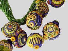 Sari beads, made in Nepal