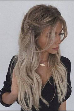 43 Gorgeous Half Up Half Down Hairstyles , partial updo hairstyle , braid half up half down hairstyles , bridal hair ,boho hairstyle hair hairstyles braids halfuphalfdown braidhair 38210296826884441 Box Braids Hairstyles, Quick Hairstyles, Hairstyle Ideas, Hairstyle Braid, Hair Ideas, Hairstyle Wedding, Gorgeous Hairstyles, Simple Hairstyles For Long Hair, Elegant Hairstyles