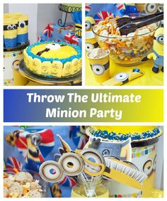 This is a fun party plan for throwing the perfect Minion-inspired children's birthday party! #MinionsMovieNight (AD)
