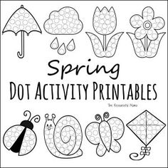 With a new season on the way, it's time for another set of dot activity printables. These spring do a dot activity worksheets are a fun low prep activity that scream springtime from April showers Preschool Projects, Preschool Printables, Classroom Crafts, Kindergarten Worksheets, Preschool Art, Preschool Activities, Preschool Painting, Summer Worksheets, Kids Worksheets