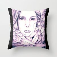 Throw Pillow featuring Tiffani the Angel  by Keyesay's Visual Art and Products