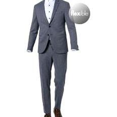 Boss Anzug Herren Jersey Blau Hugo Boss In 2020 Single Breasted Suit Jacket Fashion Collection