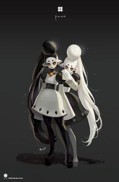 Schachfiguren als reale Personen von Soo.K Design & Art Fantasy Character Design, Character Design Inspiration, Character Concept, Character Art, Dark Fantasy Art, Dnd Characters, Fantasy Characters, Chess Pieces, Monster Art
