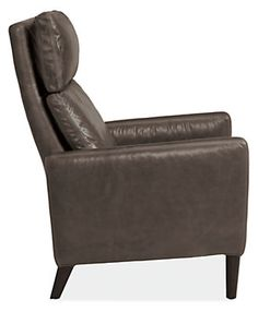 Wynton Leather Recliner in Lagoon Leather - Recliners & Lounge Chairs - Living - Room & Board
