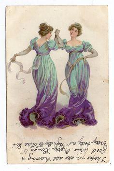 Old Books & Things.., michaelmoonsbookshop: Art Nouveau Style Postcard...