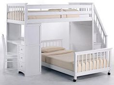 Annabella Twin Size Stairway Loft Bed