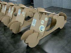 X-Board Vespa cut-outs Cardboard Sculpture, Cardboard Toys, Cardboard Furniture, Corrugated Packaging, Activities For Kids, Crafts For Kids, Diy Tank, Diy Shirt, Cardboard Design