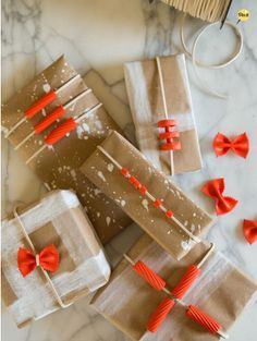 Wrap the gift. Tradition calls for beatiful paper, ribbons, and bows, Creativity allows for aluminum foil, cloth, yarn, dried macaroni, collages, rubber stamps, etc. Your handmade giftwrap becomes part of the gift. How Rude! by Alex J. Parker, Ph.D