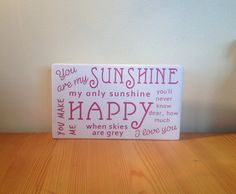 Chunky freestanding wooden plaque/sign You are by JJAdorableCrafts, £10.00