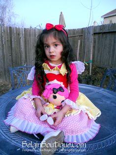 Lalaloopsy Birthday Dress custom size 6m up to 10yrs model by: Krystel-Marie