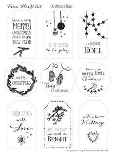 Christmas Gift Tags Printable, Free Printable Gift Tags, Christmas Labels, Christmas Card Crafts, Holiday Gift Tags, Christmas Wrapping, Christmas Tag, Merry Little Christmas, Merry Xmas