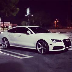Audi's are beautiful cars