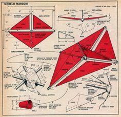 Cometas fáciles de construir. Modelo Marconi