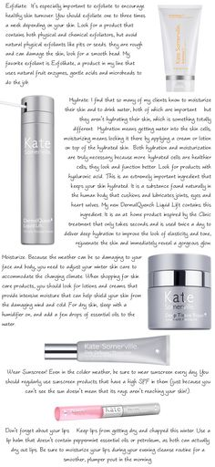 Winter Skin Care Tips from Kate Somerville
