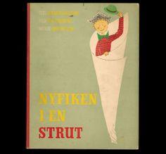1947 Stig Lindberg Illustrated Childrens Book Stig Lindberg, The Struts, Midcentury Modern, Childrens Books, Modern Art, Mid Century, Retro, Illustration, Lindbergh