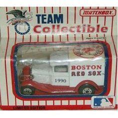 Boston Red Sox 1990 Matchbox MLB Diecast 1:64 Scale Ford Model A Delivery Truck White Rose Baseball Collectible by MLB $18.29