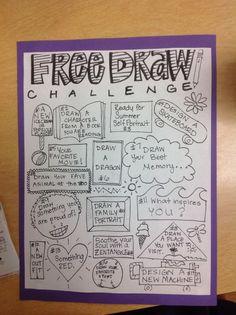 Art sub plans - Around the classroom… – Art sub plans Drawing Challenge, Art Challenge, Documents D'art, Art Doodle, Doodle Ideas, Art Sub Plans, Classe D'art, Ms Project, Art Handouts