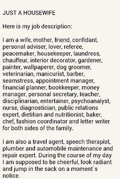 a housewife job description - Manicurist Job Description