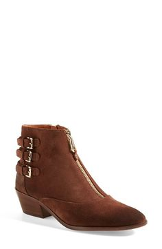 Free shipping and returns on Rebecca Minkoff 'Alex' Bootie at Nordstrom.com. A waxed suede bootie embellished with a trio of buckle straps brings a dash of authentic appeal to your everyday style.