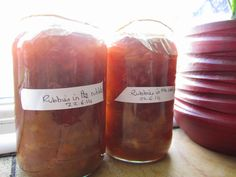 The Grey Hair Granny: Rubies in the rubble rhubarb and ginger jam
