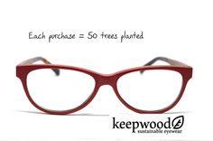 Red Eyeglasses Eyeglass Frames Wood Eyeglasses by KeepwoodEyewear