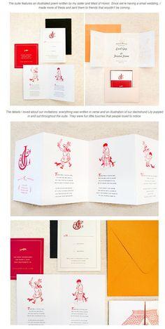 絵本みたいで可愛い招待状デザインの作品例 | Weddingcard.jp