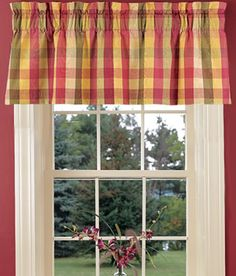 """Tailored Valance:  15"""" long by 50"""" wide 3"""" rod pocket, 2"""" heading - style and measurements for kitchen valences"""