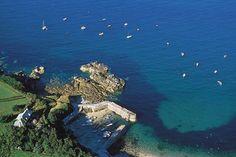 Port racine, Normandie, le plus petit port de France.