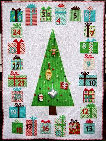 This advent quilt is amazing and super cute. For some day, if I ever learn to quilt.