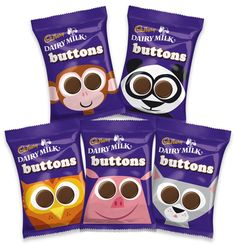 2010 Dieline Awards Winner, 3rd Place - Food C - Cadbury Dairy Milk Buttons