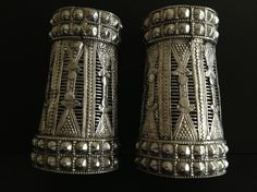 These are Pashtoon cuffs from  Nortnern Pakistan from  Koshistan/Swat region. Actually these are a more elaborate version of the pair with  Akkie which is more simpler form of the same type/style of bracelts/cuffs.