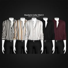 Gorilla Gorilla Gorilla - Mandarin Collar Shirt II Top New Mesh All LOD's...