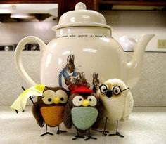 just an image, but aren't these guys too cute ~ from 3 for Tea by frogmuseum2 on Flickr