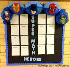 Super Math Heroes Bulletin Board