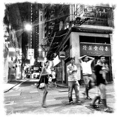 One night in Central. #hongkong #central #hkig #instagram #streetphotography #blackandwhite - @rudileung- #webstagram