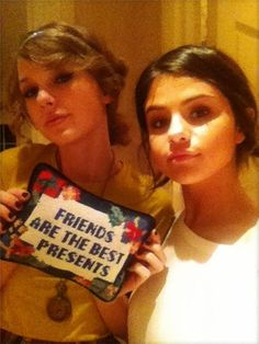 Taylor Swift and Selena Gomez share Friendship Pillow